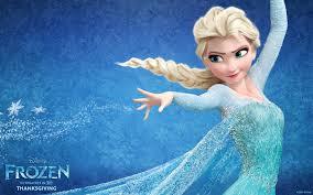 Idina Menzel voicing Elsa from Frozen