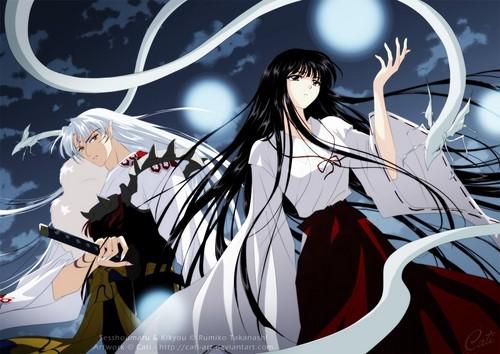 Inuyasha wallpaper probably containing anime called sesshomaru/kikyo