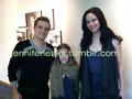 Josh and Jennifer with a fan - jennifer-lawrence-and-josh-hutcherson photo