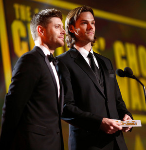 Jensen and Jared at the Critics' Choice Awards 2014