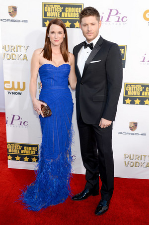 Jensen and Danneel at the Critics' Choice Awards 2014