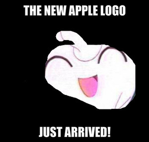 Jigglypuff as the new appel, apple logo!