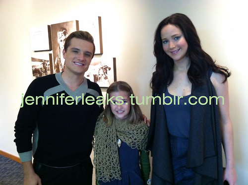 Josh Hutcherson wallpaper possibly with an outerwear, a well dressed person, and a portrait called Josh and Jennifer with a fan