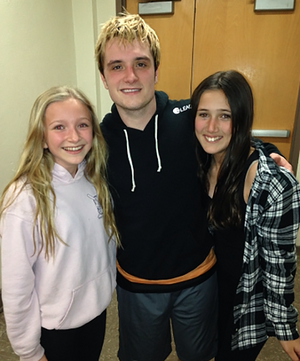 Josh Hutcherson at Beverly Hills Highschool (02.04.14)