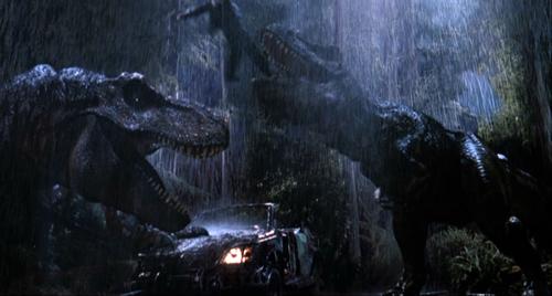 Jurassic Park kertas dinding titled T-Rexes Eat Eddie