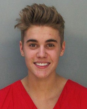 Justin Bieber Miami Mug Shot