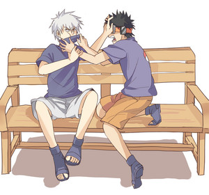 Kakashi Hatake and Obito Uchiha