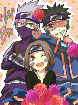 Kakashi Hatake, Rin and Obito