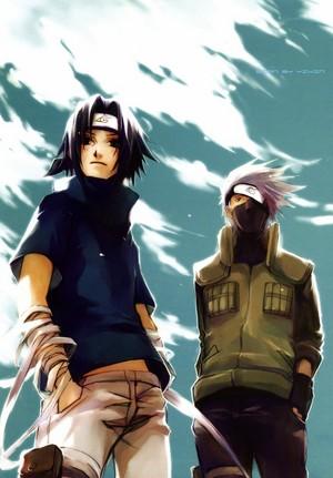 はたけカカシ Hatake and Sasuke Uchiha
