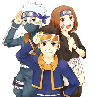 কাকাসি Hatake, Rin and Obito
