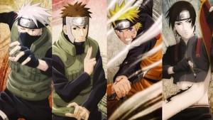 Kakashi Hatake, Yamato, Naruto and Saï