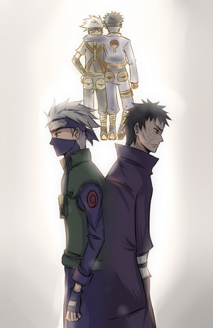 Kakashi Hatake Hatake and Obito Uchiha
