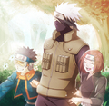 Kakashi Hatake, Rin and Obito - kakashi fan art