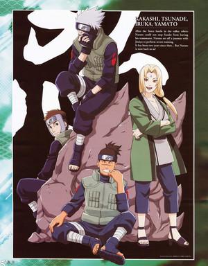はたけカカシ Hatake, Tsunade, Yamato and Iruka