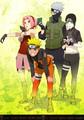 Kakashi Hatake, Sakura, Naruto and Saï