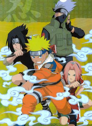 ककाशी Hatake, Naruto, Sasuke and Sakura