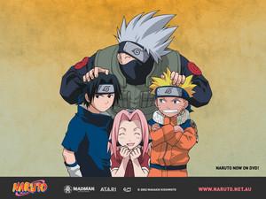 Какаси Hatake, Naruto, Sasuke and Sakura