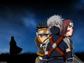 Kakashi Hatake, Rin and Obito - kakashi wallpaper