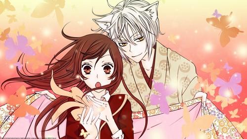 Kamisama baciare wallpaper containing Anime titled Nanami And Tomoe
