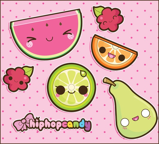 Kawaii fruits kawaii food photo 36568599 fanpop - Kawaii food wallpaper ...