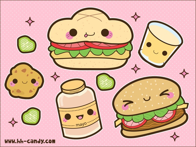 Kawaii food images kawaii hamburger stuff wallpaper and - Kawaii food wallpaper ...