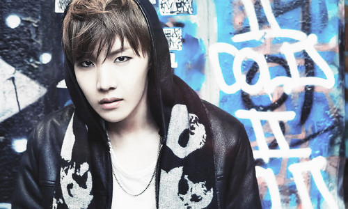 """Kpop wallpaper probably with an outerwear, a sign, and a well dressed person entitled BTS J-Hope """"Skool Luv Affair""""!"""