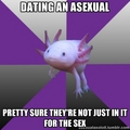 Asexual Axolotl - lgbt photo