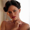 Lara Pulver as Irene Adler in Sherlock