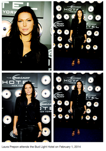 Laura Prepon wallpaper possibly with a sign titled Laura Prepon - Bud Light Hotel
