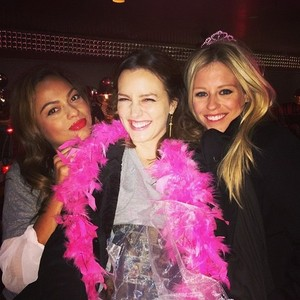 Leighton Meester bachelorette party at Burger Mary's 02/01/14