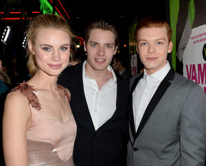 Lucy, Dom, Cam at Vampire Academy premiere