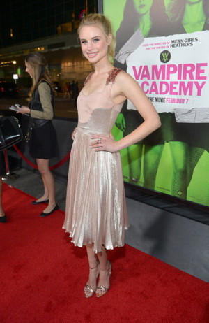 Lucy Fry at Vampire Academy premiere