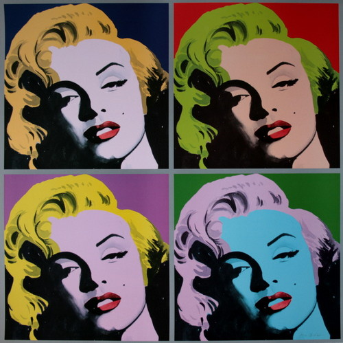 marilyn monroe wallpaper containing animê called Marilyn Monroe Pop Art por Irene CELIC