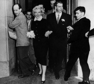 Marilyn and Joe were married in a civil ceremony at San Francisco City Hall on January 14, 1954