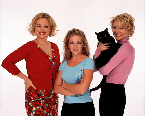 Melissa Joan Hart karatasi la kupamba ukuta containing a schipperke called Sabrina the Teenage Witch