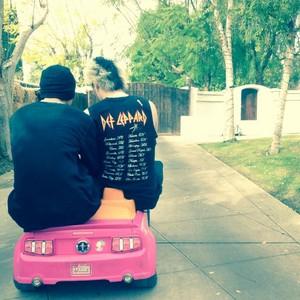The boys in a car date!