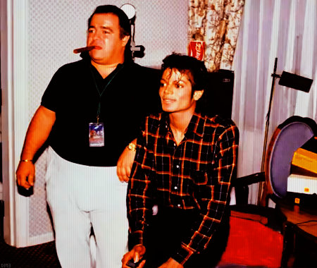 MJ with Frank Dileo