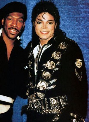 Michael With Eddie Murphy