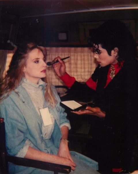 Michael Applying Makeup On A Woman