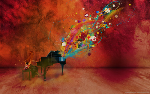 Musica wallpaper titled Pianoforte wallpaper