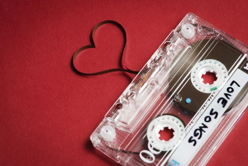 Music wallpaper containing a cassette tape titled Love Songs Wallpaper