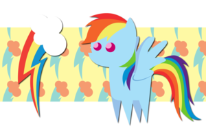 pelangi, rainbow Dash Pointy Ponies