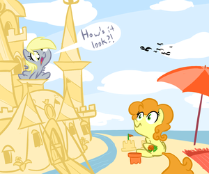 Derpy and Golden Harvest