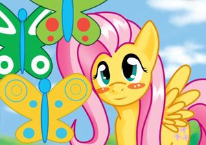 Fluttershy and 蝶