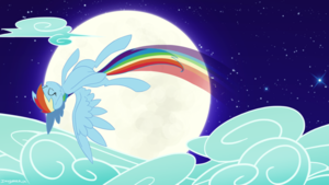 Rainbow Dash in the Sky