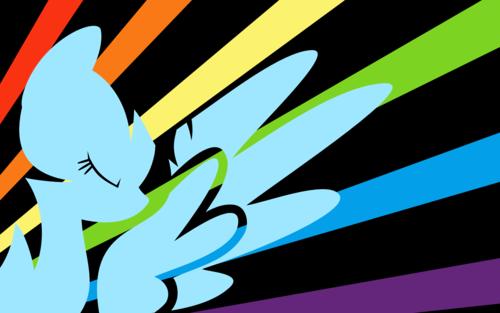 My Little ngựa con, ngựa, pony - Friendship is Magic hình nền possibly with anime titled cầu vồng Dash hình nền