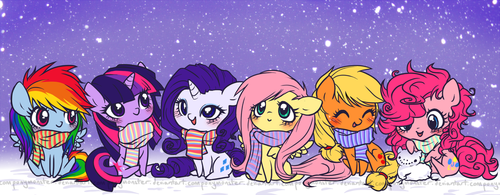 My Little Pony Friendship is Magic wallpaper containing anime titled Chibi MLP