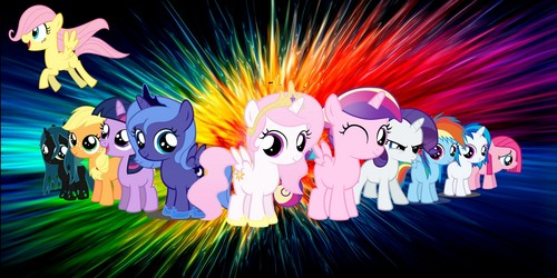 My Little pony Friendship is Magic achtergrond with a bezem titled My Little pony Huge achtergrond