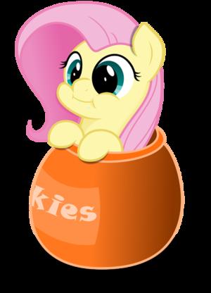 Fluttershy in a Cookie Jar