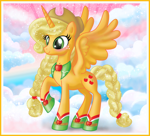 applejack as an Alicorn